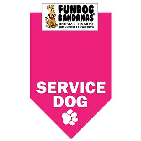 BANDANA - Service des chiens pour les moyennes chiens de grande taille - rose chaud