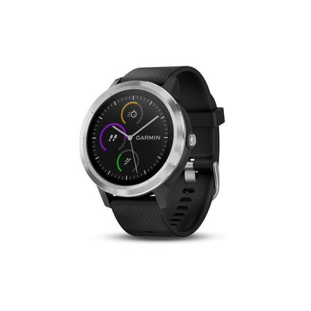 Garmin vivoactive 3 Black with Stainless Hardware Smart Watch (010-01769-01)