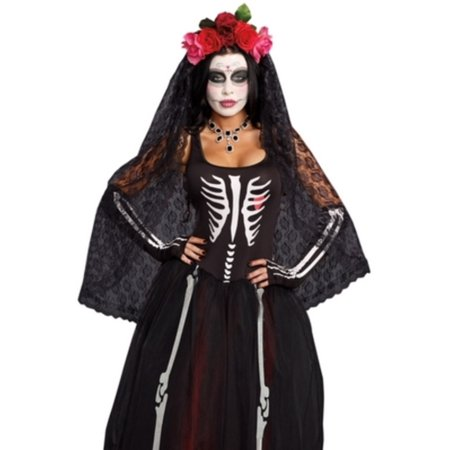 Halloween Town Girl Dead (Day Of The Dead Headpiece Dreamgirl 10003)