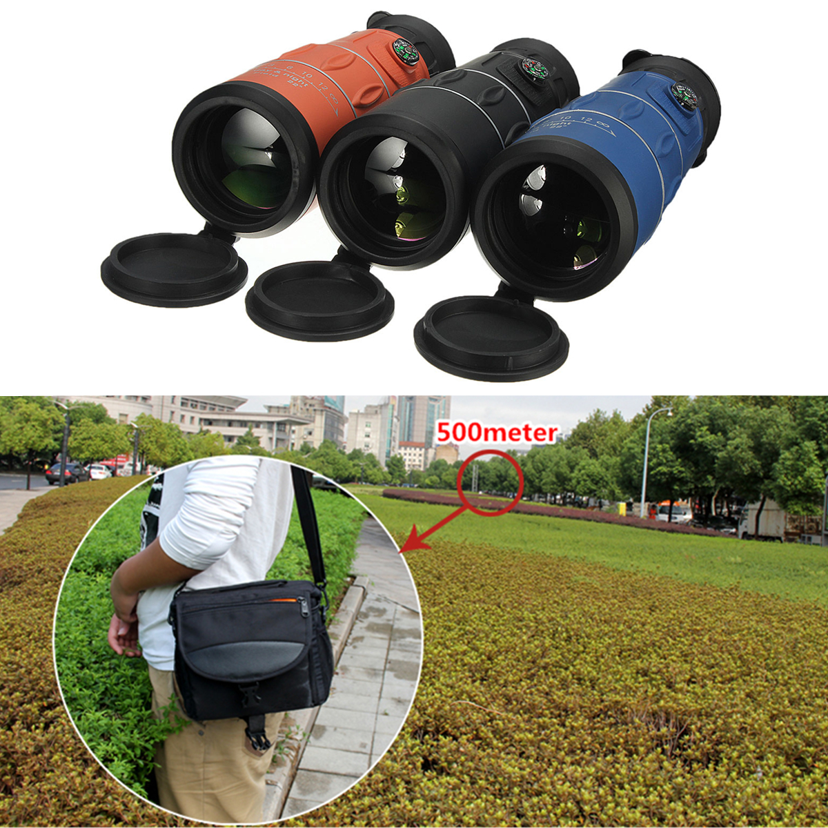 Panda 26 x 52  HD Clear Zoom Optical Monocular Telescope Hiking Camping Hunting Night Vision 3 Color 66M/8000M
