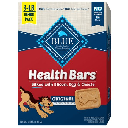 Blue Buffalo Health Bars Crunchy Dog Treats, Bacon, Egg & Cheese Recipe, 48-oz box (Recipe Cheese Sticks)