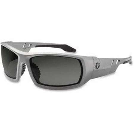 Ergodyne 50133 Fog-Off Smoke Lens & Gray Frame Safety (Glasses Off Review)