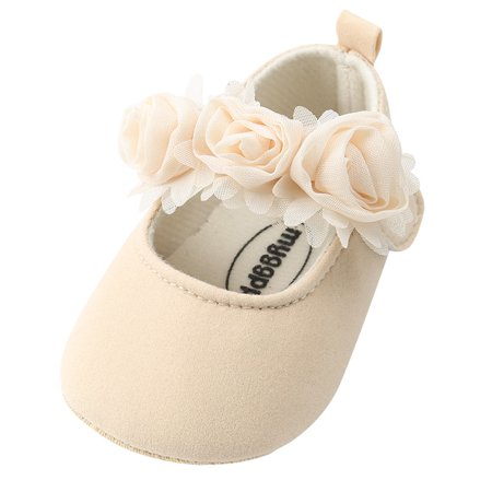 Outtop Baby Girl Princess Flower Fashion Toddler First Walkers Kid Shoes