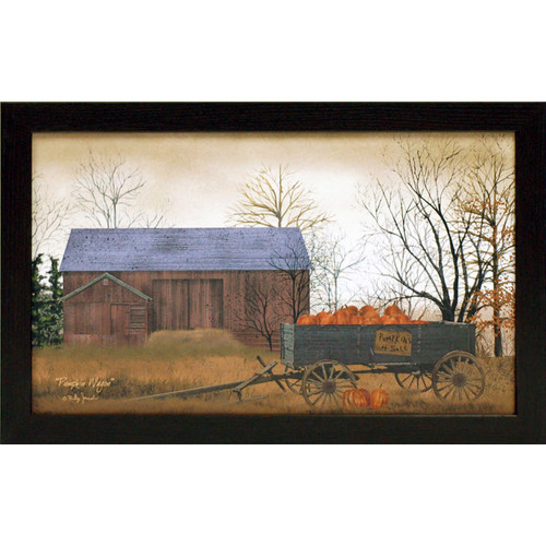 Artistic Reflections Pumpkin Wagon Framed Painting Print