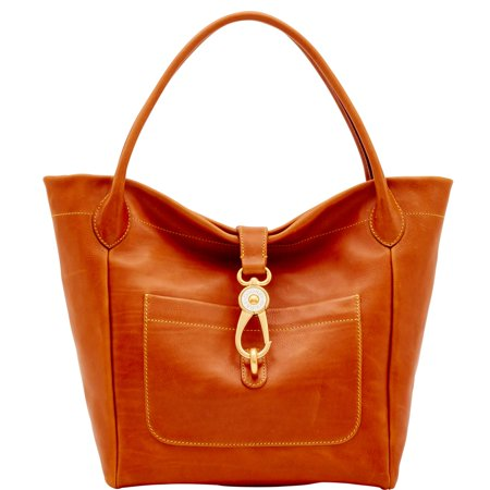 Dooney & Bourke Florentine Logo Lock Tote (Dooney And Bourke Double Long Handle Tote)