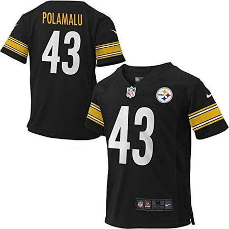 ... Troy Polamalu Pittsburgh Steelers 43 Kids Sizes Game Jersey Black (Kids  Large 7) . 3df6550e0