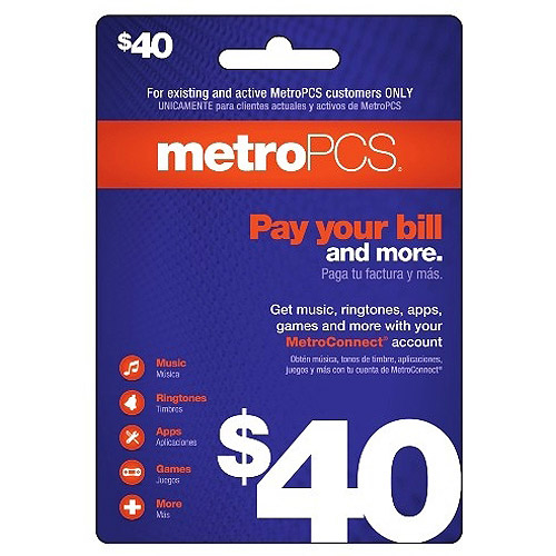 (Email Delivery) MetroPCS $40 Payment Card