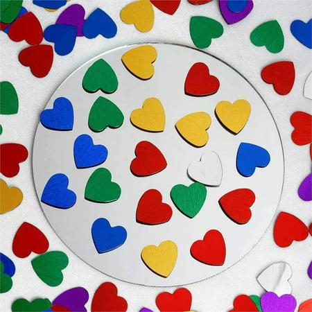 Efavormart Dreamy Metallic Foil Wedding-Party Heart Confetti Sprinkles- 300 PCS-Assorted - Heart Confetti