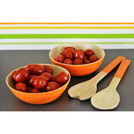 - LAMINATED POSTER Tomatoes Bowls Vegetables Healthy Salad Servers Poster Print 24 x 36