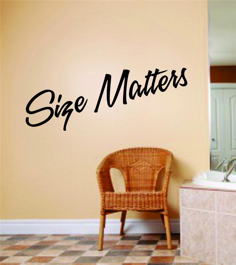 Size Matters Wall Letters With Animal Picture Art Kids Room Bow Hunting Deer / Moose / Buck Hunter Hobby Sports Mens Wall 4 X 16 Inches