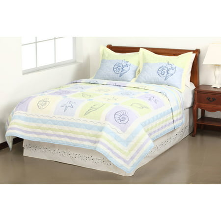 Mainstays Quilt Collection, Sea Breeze