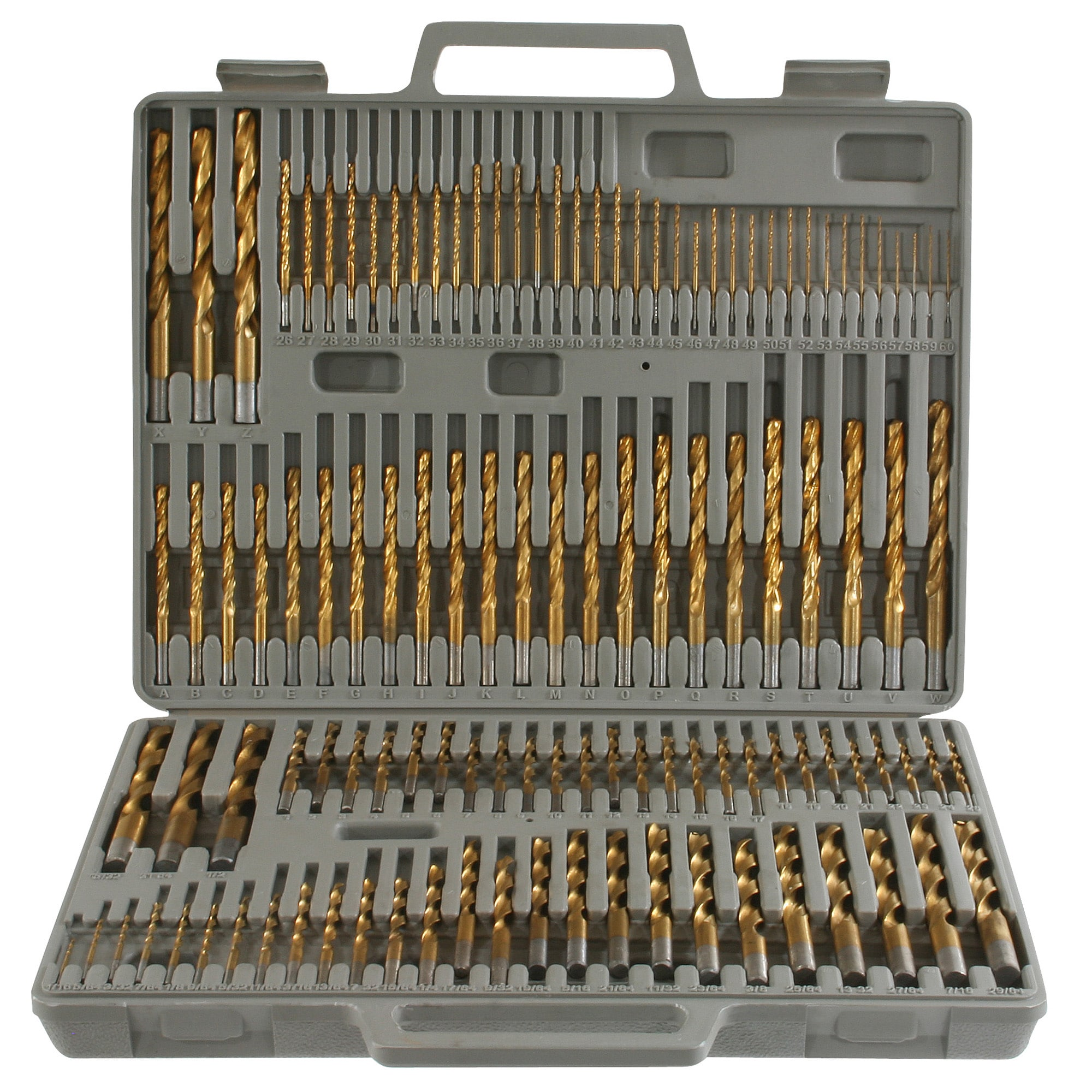 Combination Drill Bit Set W// Portable Carry Case Storage Power Tool 326-Piece
