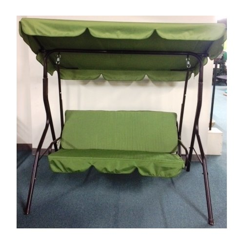 Lb International 3 Seat Sage Pad Porch Swing with Canopy