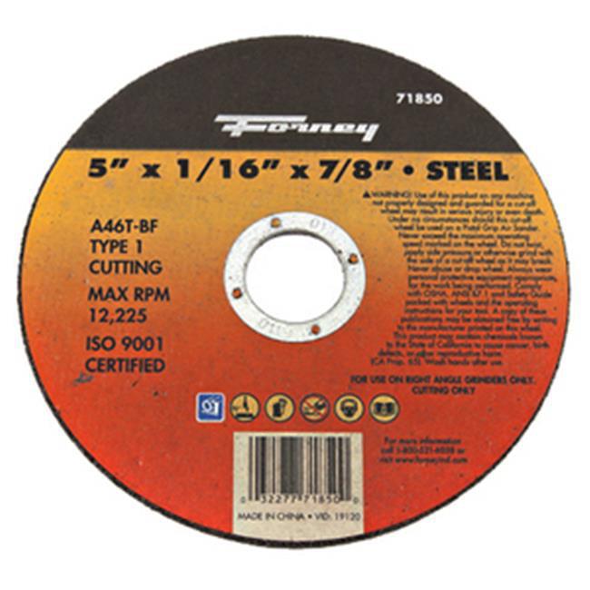Forney Industries Inc 71850 Wheel Cutoff Metal - 5 x 0. 063 x 0. 88 inch
