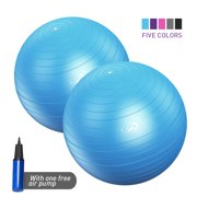 QF 2 Pack Yoga Exercise Ball Stability Balance Ball for Gym Sports Balance Trainer w/Air Pump workouts Swiss ball Fitness Anti-Burst/Heavy Fitball Balance Ball 45-55CM, 55-65CM, 65-75CM, 75-85CM