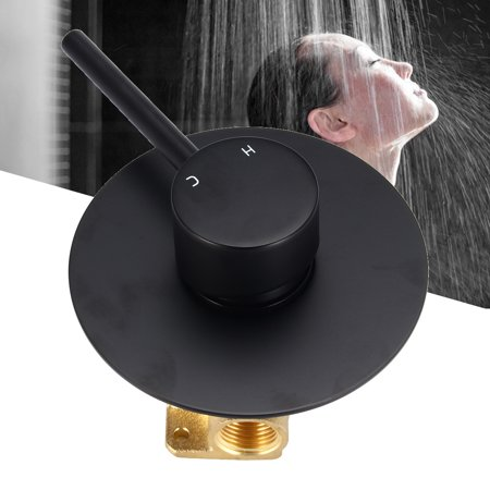 Meigar Black Copper Shower Mixer Bath Spout Basin Sink Faucet Bathroom Water Taps New ()