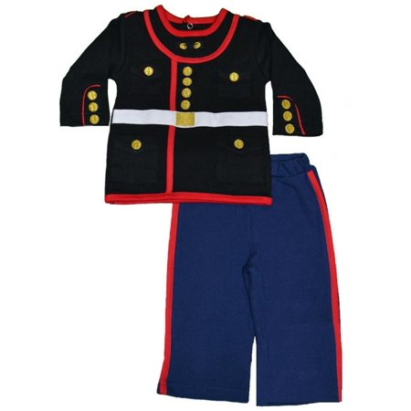 Marine Corps Dress - US Marine Corps Dress Blues Uniform Baby Outfit (9-12 Months), 100% cotton By Jolt TC