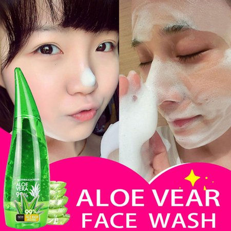 Aloe Vera Gel Pore Terminator Cleansing Foam Facial Cleanser Remove Blackhead (Oriflame Love Nature Cleansing Gel Aloe Vera Review)