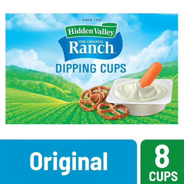 Hidden Valley Original Ranch Salad Dressing To Go Cups - 1.5fl oz/8pk