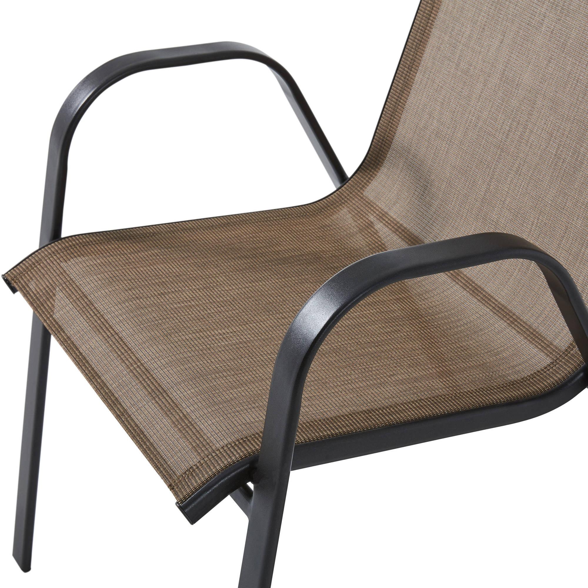 Mainstays Heritage Park Stacking Sling Chair Tan Walmart