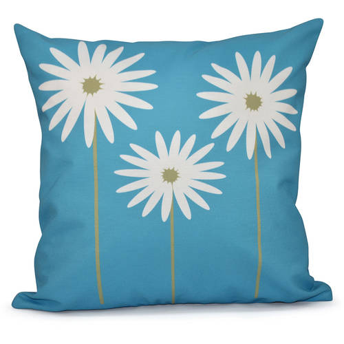 "Simply Daisy 16"" x 16"" Daisy May Floral Print Outdoor Pillow"