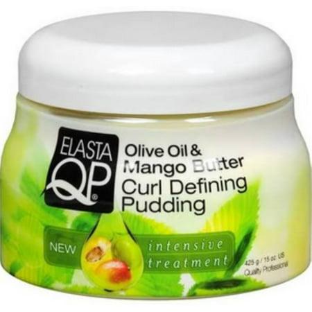 Elasta QP Olive Oil & Mango Butter Curl Defining Pudding, 15 (Olive Oil Mango Butter Curl Defining Pudding)