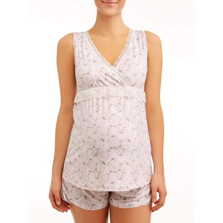 Nanette Lepore Maternity SleepwearMaternity nursing cross over top and shorts set ()