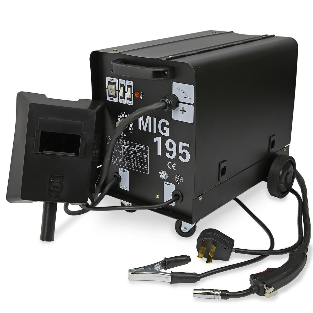 230V 195AMP DUAL MIG195 Flux Core Auto Wire Welding Welder
