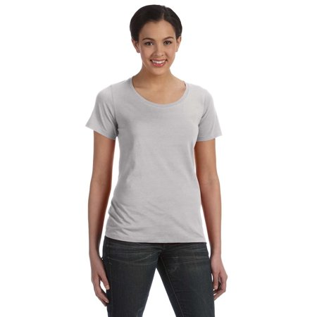 A Product of Anvil Ladies' Featherweight Scoop T-Shirt - SILVER - XS [Saving and Discount on bulk, Code Christo]