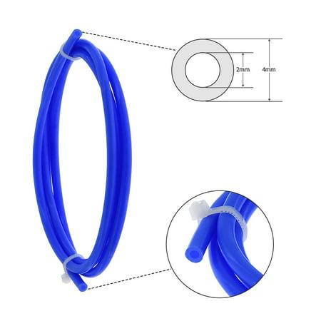 Aibecy 3pcs Tube de tuyau PTFE bleu 1 mètre avec raccords pneumatiques 3pcs PC4-M6 3pcs PC4-01 Raccords Connecteurs pour filament 1.75mm d'imprimante 3D - image 4 de 6