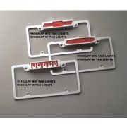 All Sales Manufacturing Polished | Oval Brake Light | W/Tag Lights License Plate Frame AMI-97002LPP