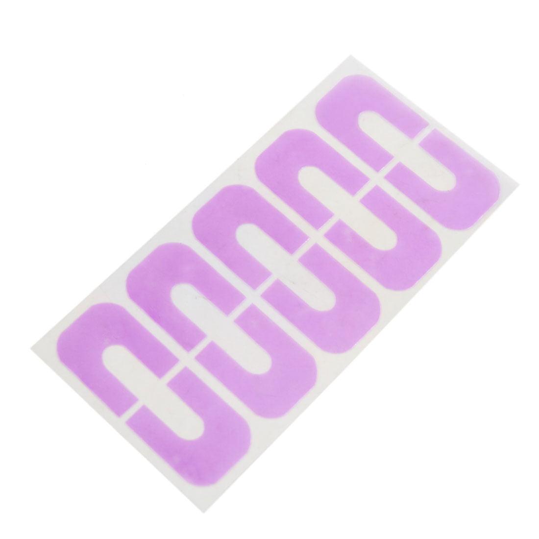 10pcs Light Purple Nail Polish Spill-Resistant Stencil Manicure Tape - image 1 de 1