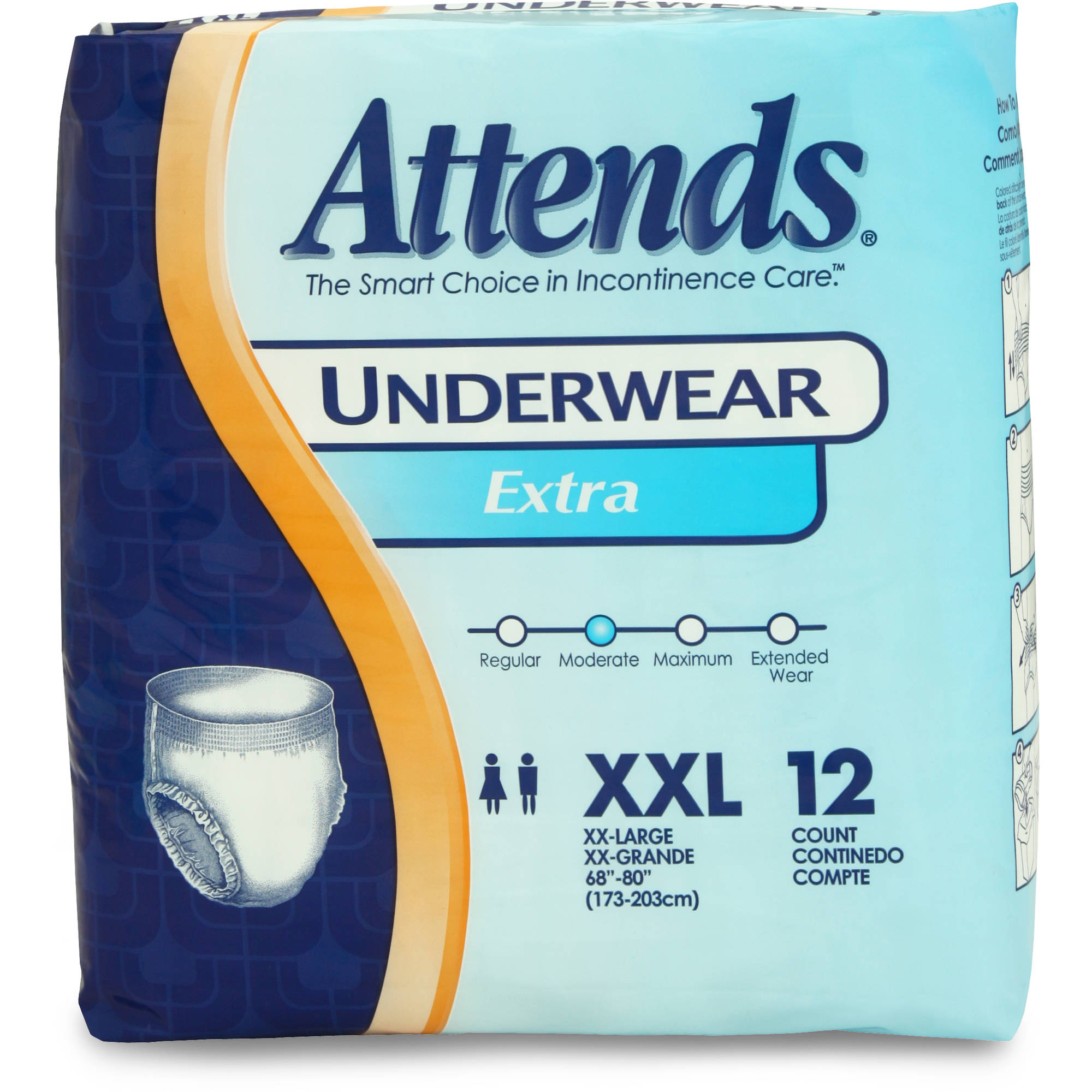 Attends Extra Absorbency XX-Large Protective Underwear, 12ct