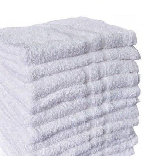 "GHP 12-Pcs Bright White 16""x27"" Absorbent Salon Gym Home Hotel Hand Bath Towels"