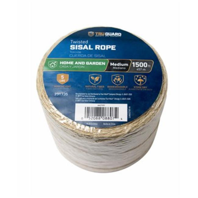 The 644451TV Natural 1//2x250 NAT Twist Rope MIBRO Group