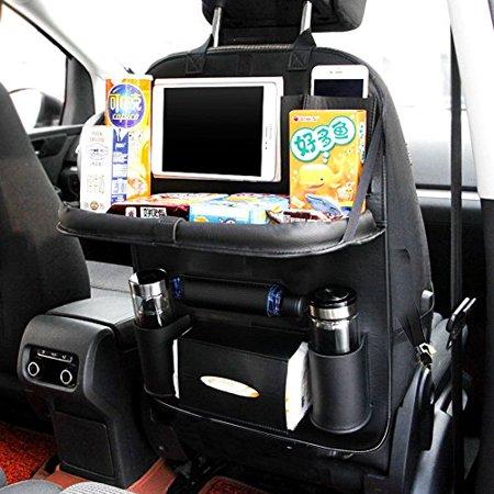 Ideashop Car Backseat Organizer PU Leather Auto Back Seat For Kids Toy Bottles Storage