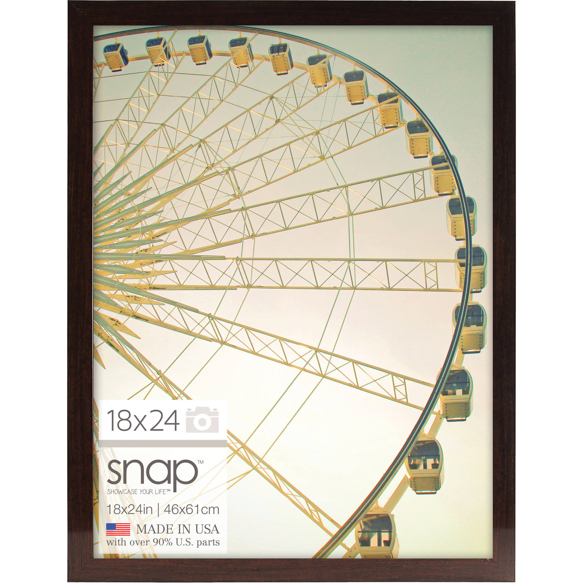 18x24 brown ashwood poster frame walmartcom