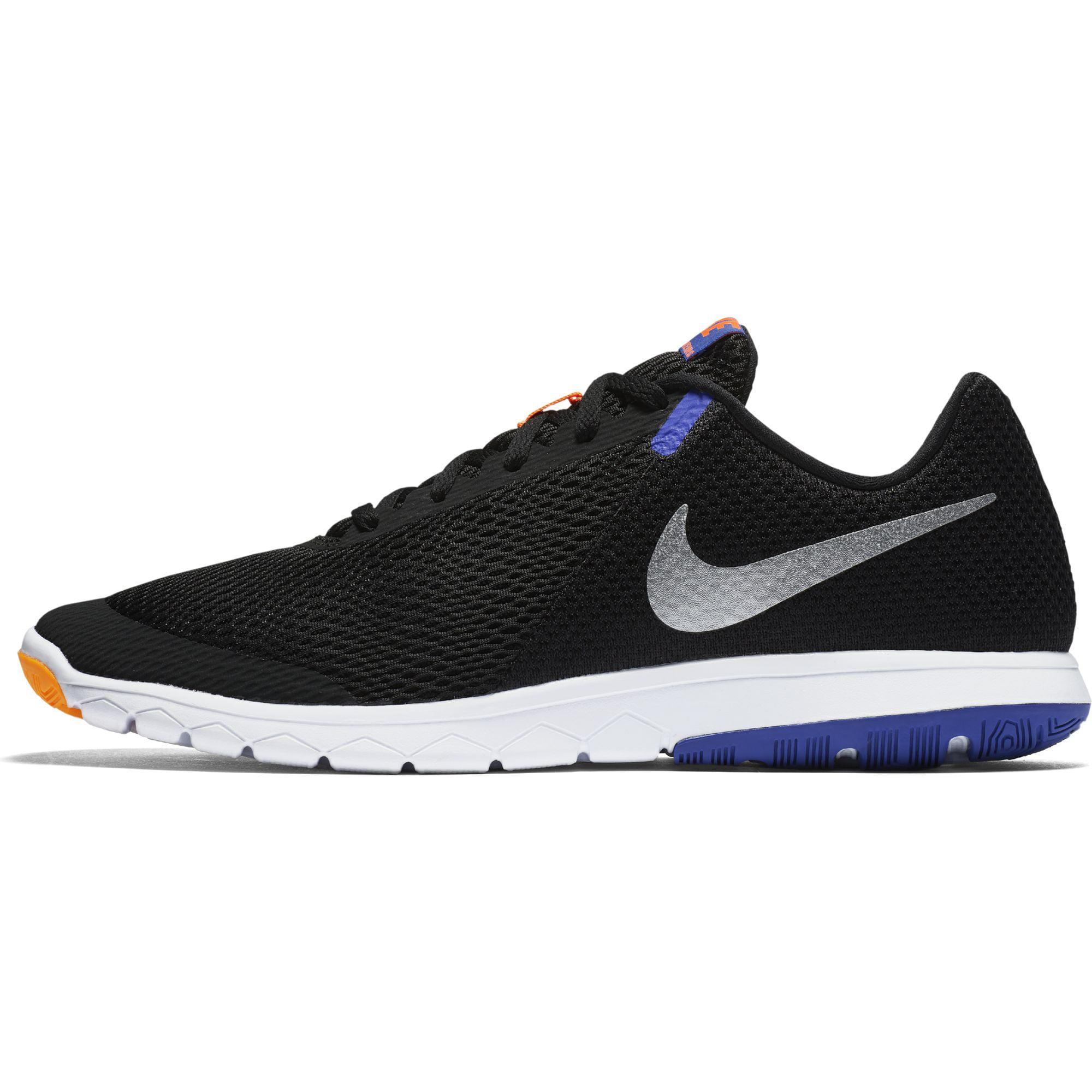 Nike Flex Experience RN 6 Men's Running Shoes, Black/Chrome-Persian Violet-Total Orange 8