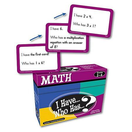 I Have  Who Has Math Game Grade 3-4 - image 1 de 1