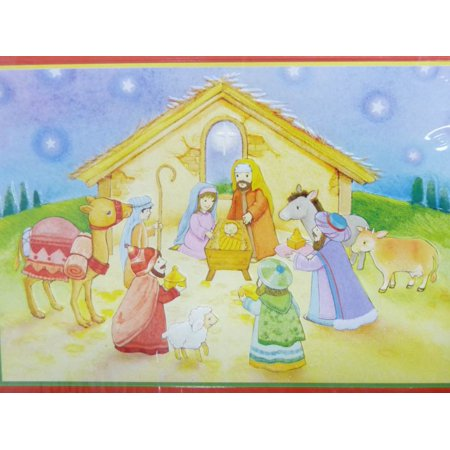 trimmerry nativity scene christian christmas cards with baby jesus in a manger - Jesus Christmas Cards