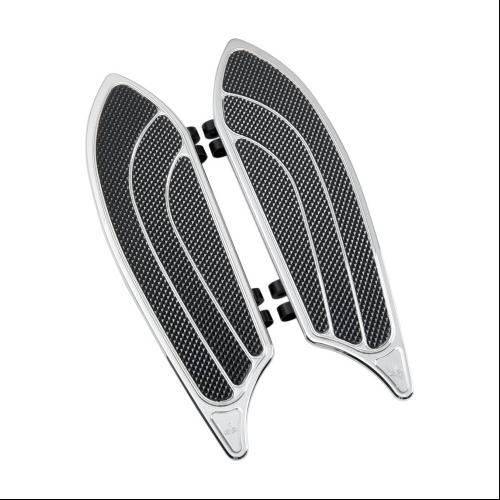 Carl Brouhard Elite Floorboards Chrome Fits 10-11 Harley-...