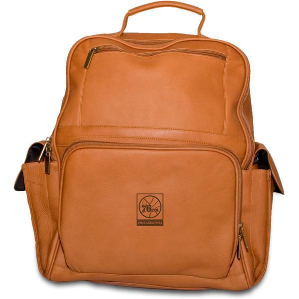 Pangea Tan Leather Large Computer Backpack - Philadelphia 76Ers Philadelphia 76ers PANGBKTPHIBKT