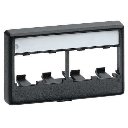 Panduit MINI-COM Snap-On Modular Furniture Faceplate - Faceplate - black