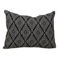 """Better Homes & Gardens 13"""" x 19"""" Outdoor Woven Toss Pillow, Black & Ivory"""
