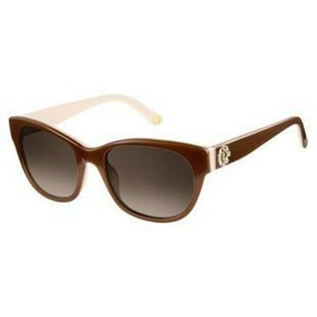 Sunglasses Juicy Couture Juicy 587 /S 0WR7 Black Havana / 9O dark gray gradient lens Juicy Couture Crown Charm