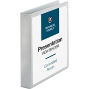 Business Source, BSN09983, Round Ring Standard View Binders, 1 / Each, White