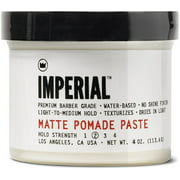 Imperial Barber Products Matte Pomade Paste 4 oz (Pack of 3)