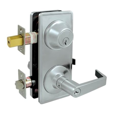 Grade 2 Interconnected Entry Lock w Clarendon Lever (Brushed Chrome)