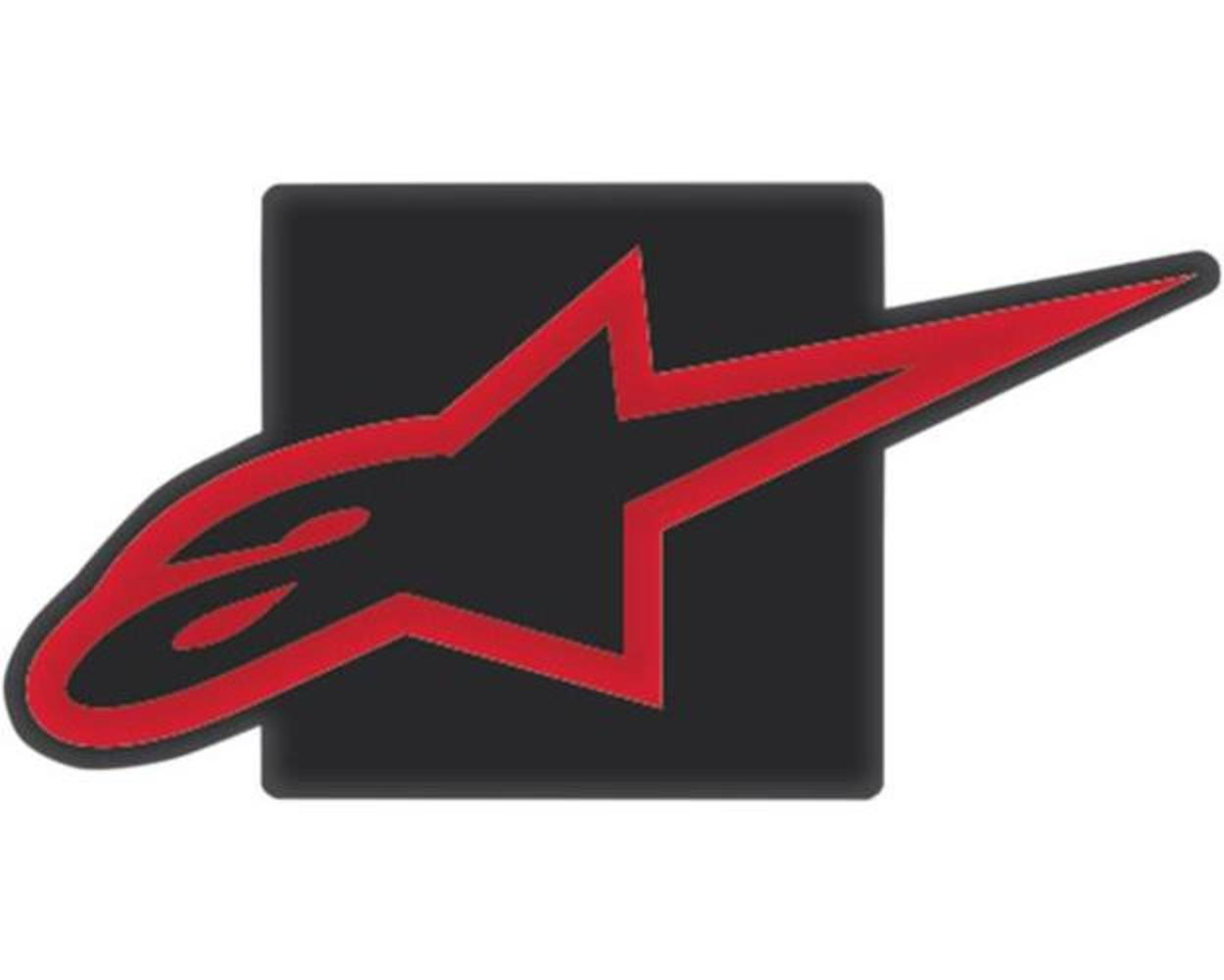 Alpinestars 1037-94000-1030 MX Trailer Hitch Cover Black Red by Alpinestars