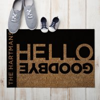 Personalized Hello and Goodbye Doormat